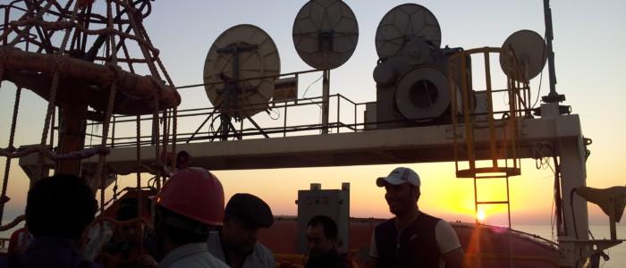 خدمات مخابراتی به Rig  فاز 17 و 18 توسعه گازی پارس جنوبی